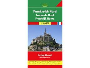 825 francie sever 1 500 000 mapa s vyhlidkovymi trasami