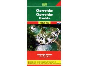 831 chorvatsko 1 500 000 mapa s vyhlidkovymi trasami