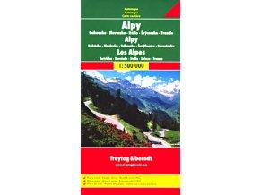 2468 alpy 1 500 000 mapa s vyhlidkovymi trasami