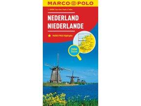 783 3 nizozemsko 1 300 000 mapa s vyhlidkovymi trasami