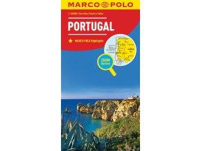786 3 portugalsko 1 300 000 mapa s vyhlidkovymi trasami
