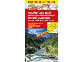 705 2 pyreneje costa brava 1 300 000 mapa s vyhlidkovymi trasami