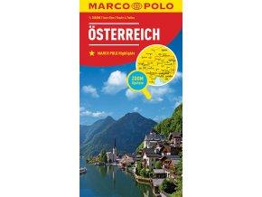 714 rakousko 1 300 000 mapa s vyhlidkovymi trasami
