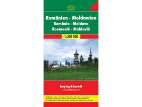 1716 rumunsko moldavsko 1 500 000 mapa s vyhlidkovymi trasami