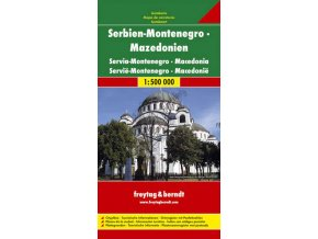 1713 srbsko makedonie cerna hora kosovo 1 500 000 mapa s vyhlidkovymi trasami