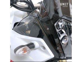 Široké deflektory UNIT garage - Yamaha Tenere 700 (Průhlednost Černé matné)
