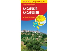 711 spanelsko andalusie 1 300 000 mapa s vyhlidkovymi trasami