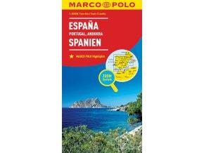 795 spanelsko portugalsko andorra 1 800 000 mapa s vyhlidkovymi trasami
