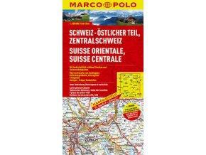 732 svycarsko vychod 1 200 000 mapa s vyhlidkovymi trasami