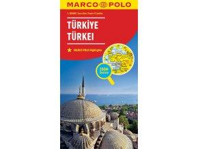 798 turecko 1 800 000 mapa s vyhlidkovymi trasami