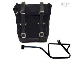 borsa laterale in crosta di cuoio telaio guzzi v7 850 sinistro 1