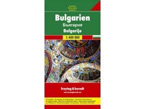 807 bulharsko 1 400 000 mapa s vyhlidkovymi trasami