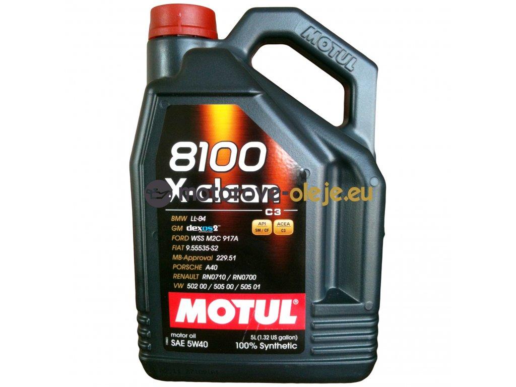 2201 1 motul 8100 x clean 5w 40 c3 5l