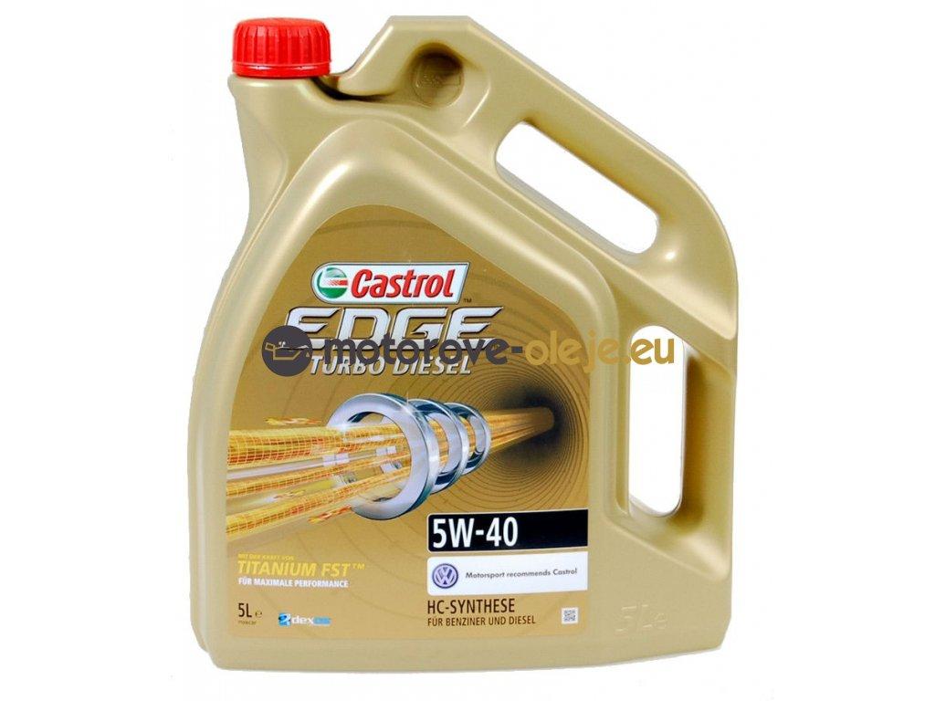 2993 castrol edge turbo diesel titanium fst 5w 40 5l