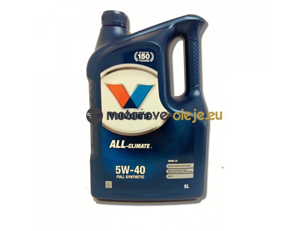 3083 valvoline all climate 5w 40 diesel c3 5l