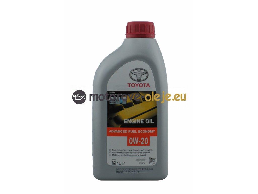 3911 toyota oil advanced fuel economy 0w 20 1l