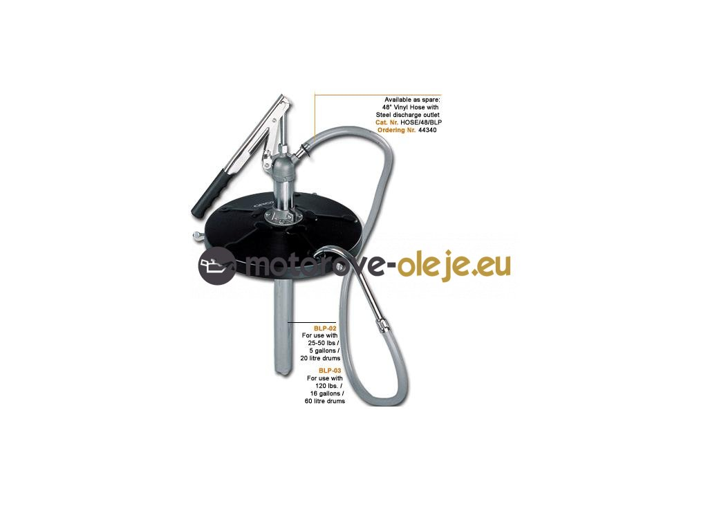 Groz pumpa s vypúšťacou hadicou na 20L BLP/02