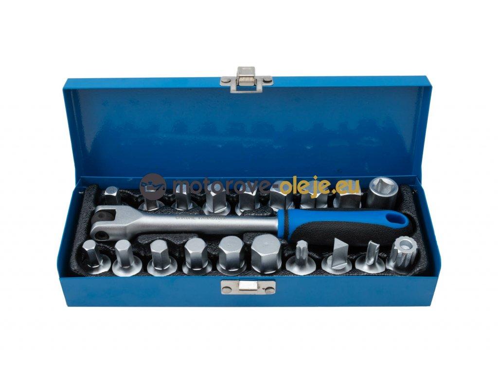 Zástrčné kľúče na olejové vane, sada 20ks QS60019B