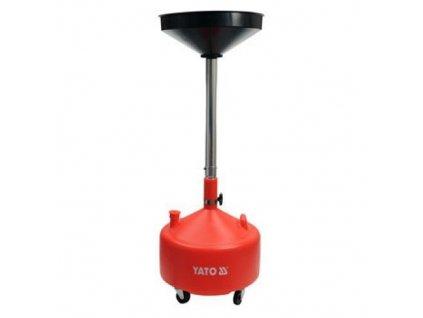Miska na odčerpání oleje 20l 420 mm nastavitelná výška 75-155 cm, YATO