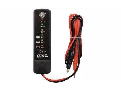 Tester autobaterií LED, YATO