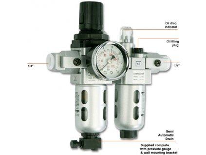 Groz filter - regulátor - primazávanie stlačeného vzduchu
