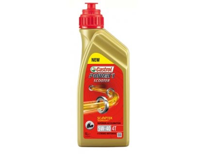 3437 castrol 4t power 1 scooter 5w 40 1l