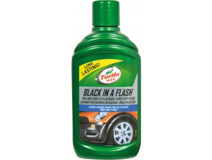 5999 turtle wax black in a flash gel na plasty a pneu 300ml