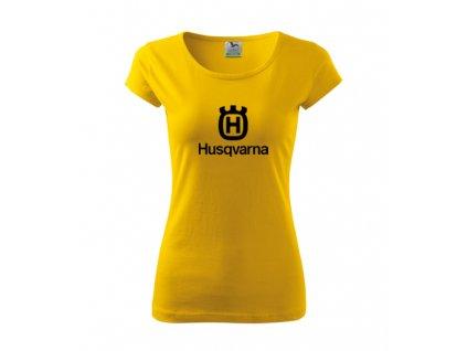 dámske tričko husqvarna žlté