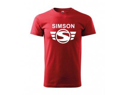 červené tričko simson