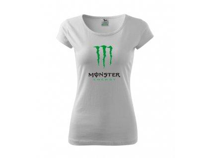 dámske tričko monster biele
