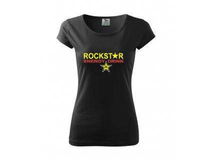 dámske tričko rockstar čierne 2