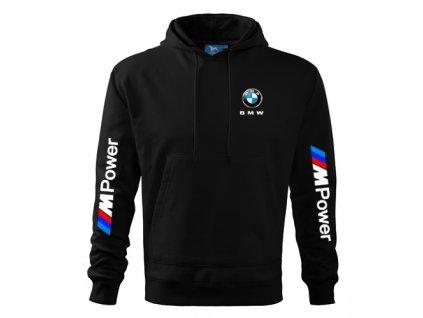 Mikina s kapucňou BMW, čierna 2