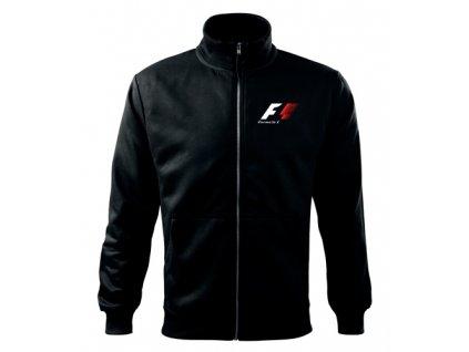 mikina so zipsom F1 čierna