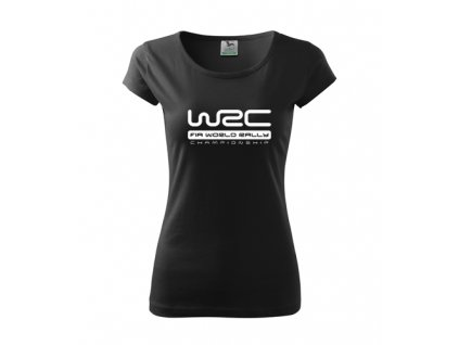 dámske tričko čierne wrc