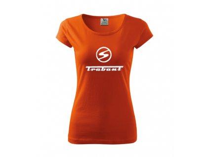 dámske tričko trabant orandzové