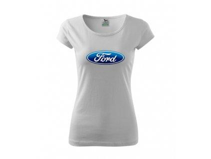 dámske tričko ford biele