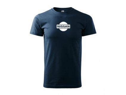 tričko nissan tmavomodré 2