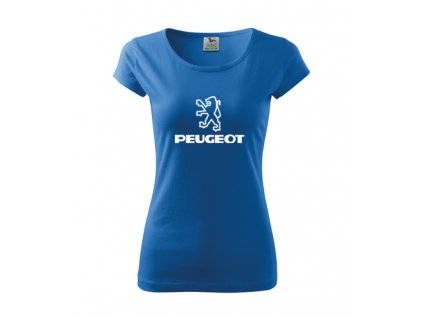 dámske tričko peugeot modré