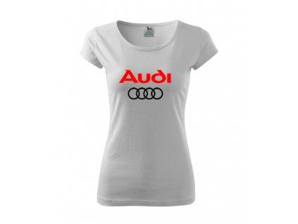 Dámske tričko Audi, biele
