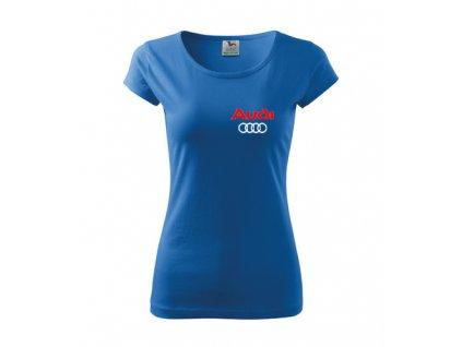 dDámske tričko audi, modré 2