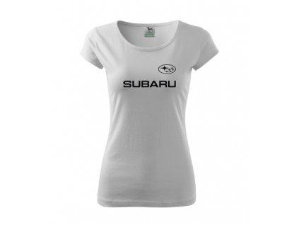 dámske tričko subaru biele 2