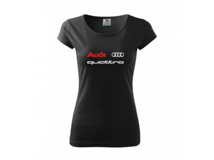 Dámske tričko Audi quattro, čierne