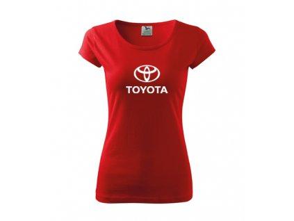 dámske tričko toyota červené