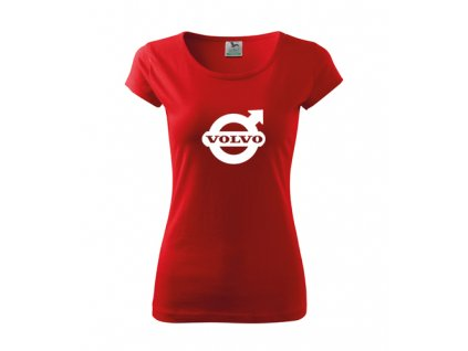 dámske tričko volvo červené