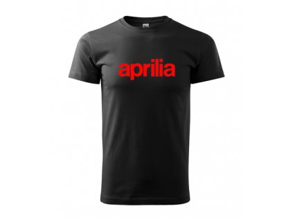 čierne tričko aprilia