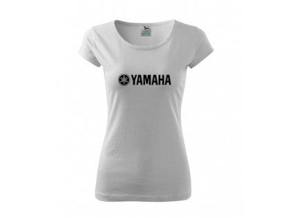 dámske tričko yamaha biele 2