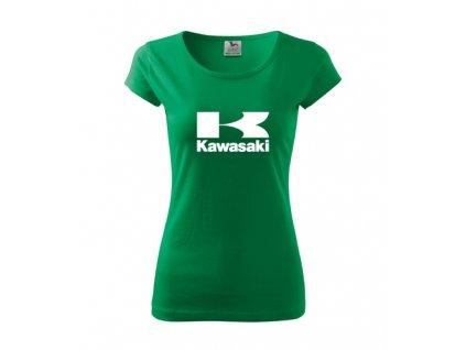 dámske tričko kawasaki zelené