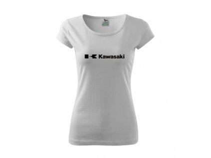 dámske tričko kawasaki biele 2