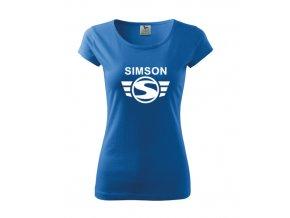 dámske tričko simson modré