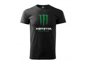 čierne tričko monster